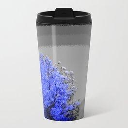 Mod Trees Periwinkle Blue & Gray Travel Mug