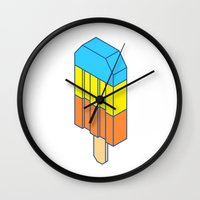 popsicle Wall Clocks featuring Popsicle by Haitham Almayman