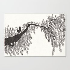 the songbird and a tree Canvas Print