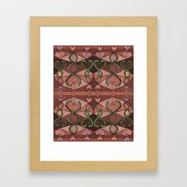 WOVEN SNAKE HEARTS II Framed Art Print