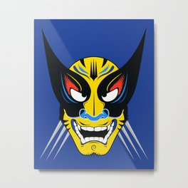 Kabuki Wolverine Metal Print
