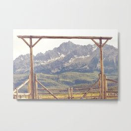 Western Mountain Ranch Metal Print