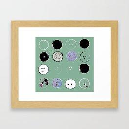 buttons_mint Framed Art Print