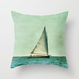 sailing cape cod seas Throw Pillow