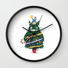 Christmas T0T0R0 (Studio Ghibli) Wall Clock