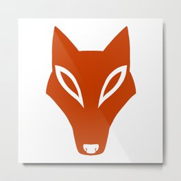Simple Fox Metal Print
