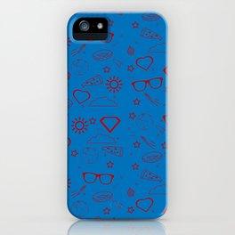 Supergirl/Kara's pattern - red iPhone Case