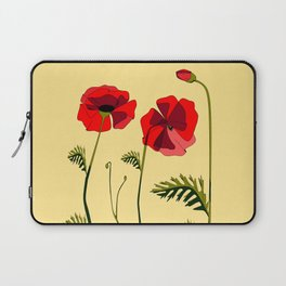 Adorable Red Poppies Unfold Laptop Sleeve