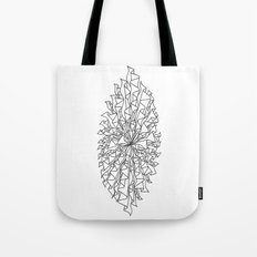 cocoon line art - white Tote Bag