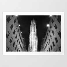 Rockefeller Center Black and White Art Print
