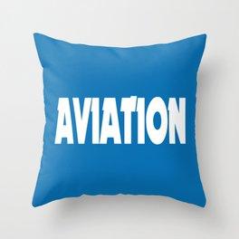 Aviation Throw Pillow