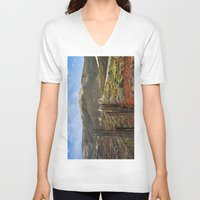 big sur V-neck T-shirts featuring Big Sur Mountains by Jeremiah Wilson