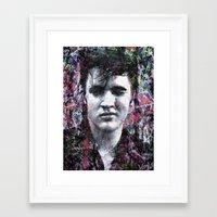 elvis Framed Art Prints featuring ELVIS PRESLEY by Vonis