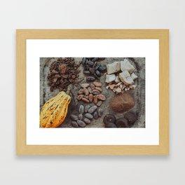 Cacao, beans, chocolate Framed Art Print