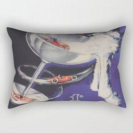Auto Racing Vintage Poster Rectangular Pillow