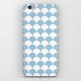 Fan Pattern 321 Pale Blue iPhone Skin