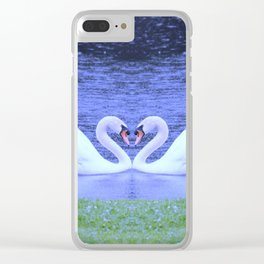 Swans in Love-light Clear iPhone Case