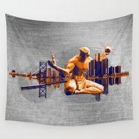detroit Wall Tapestries featuring Detroit City by denrees