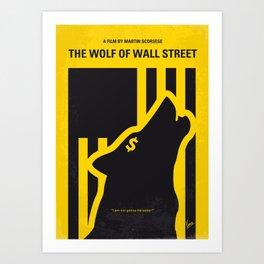 No338 My wolf wallstreet minimal movie poster Art Print