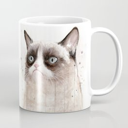Grumpy Watercolor Cats Coffee Mug