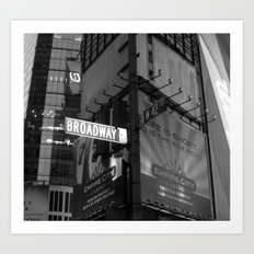 Broadway & W42nd St Art Print