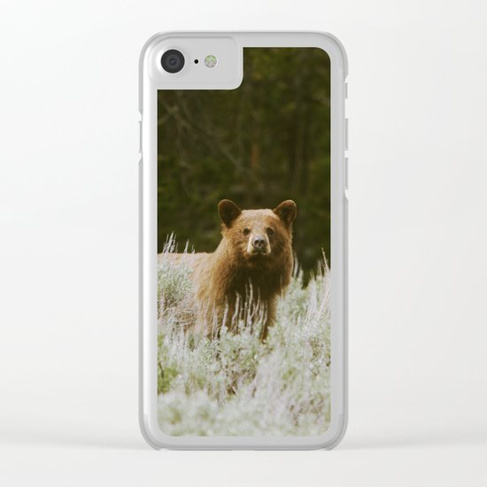 Bush Bear Clear iPhone Case