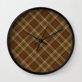 Scottish tartan #12 Wall Clock