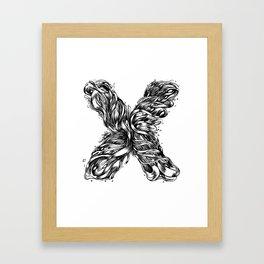 The Illustrated X Framed Art Print