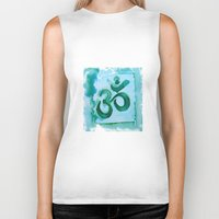 ohm Biker Tanks featuring Ohm ~ Sound of the Universe by SoulBird Art