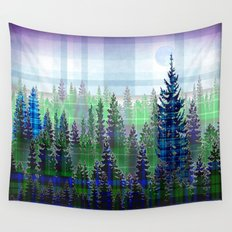 Plaid Forest Wall Tapestry