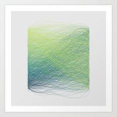 Hue Remix Greens Art Print