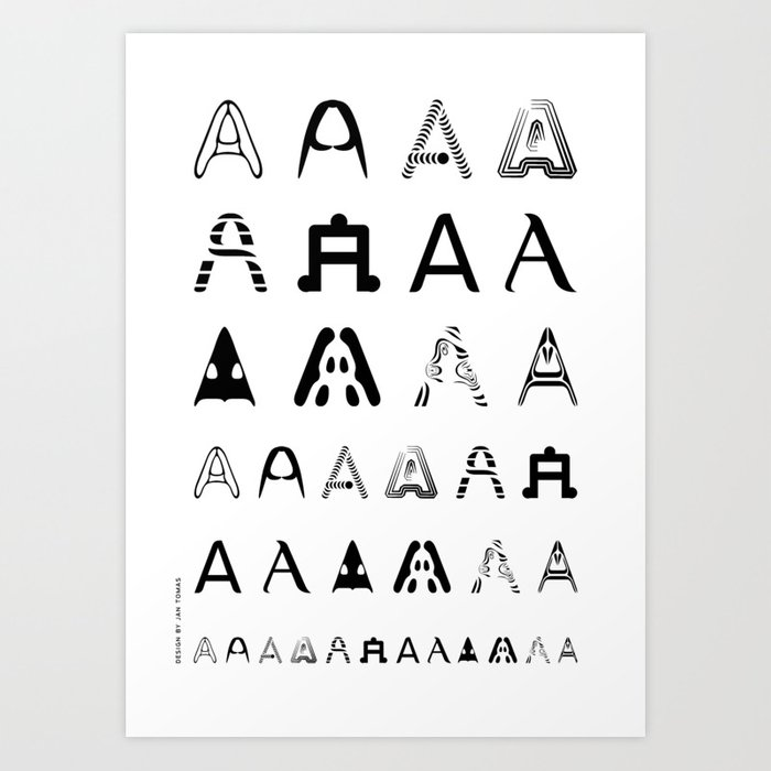 A is the first letter Art Print