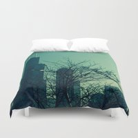 chicago Duvet Covers featuring Chicago by Patricia McNickle