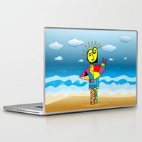 surfer Laptop & iPad Skins featuring Surfer by Moisés Ferreira