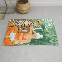 Jungle Vacay #painting #illustration Rug