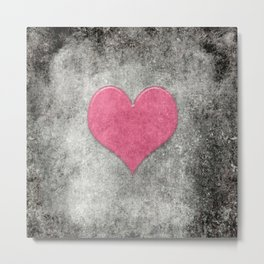 Grunge with heart Metal Print