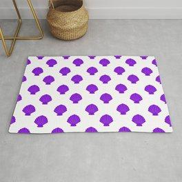 Seashells (Violet & White Pattern) Rug