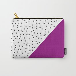 Geometric grey and purple design Carry-All Pouch