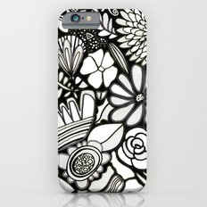 Flowers On The Wall Black & White Edition Slim Case iPhone 6s