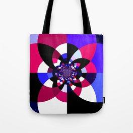 Magenta Purple Indigo Kaleidoscope Mandala Tote Bag