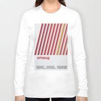 smaug Long Sleeve T-shirts featuring Smaug - Swiss Style Minimalism by Frank JE Flitton