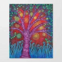 Purple Mystic Tree Canvas Print