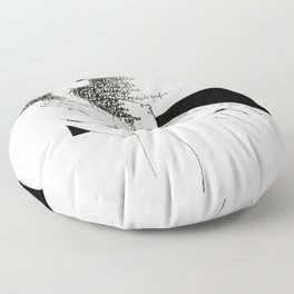 Curly Poems Floor Pillow
