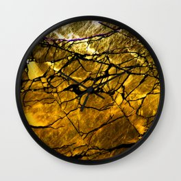 Gold Labradorite Crystal Wall Clock