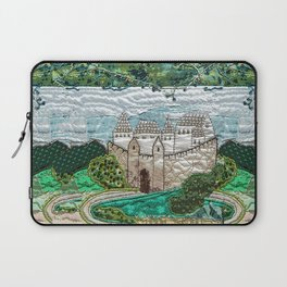 Old castle in blue Laptop Sleeve