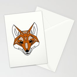 Geometric Fox - Abstract, Animal Design Stationery Cards
