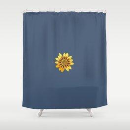 Gazania Blue Shower Curtain