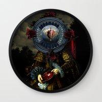 regina mills Wall Clocks featuring Steak Regina by DIVIDUS DESIGN STUDIO