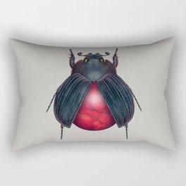 Red Jasper Beetle Rectangular Pillow