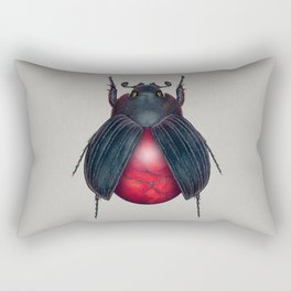 Red Jasper Beetle Rectangular Pillow